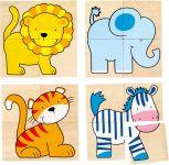 Karemo puzzle et  mémo animaux sauvages