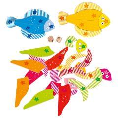 Jeu de dé Les petits poissons, Peggy Diggledey