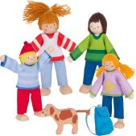 Famille du camping, poupées articulées