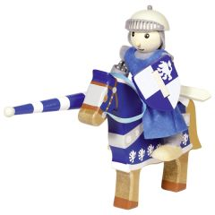 Poupée flexible, chevalier Lancelod avec cheval