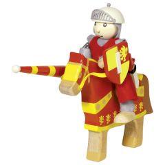 Poupée flexible, chevalier Artus avec cheval