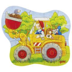 Puzzle Tracteur,Chargeur,Pompiers