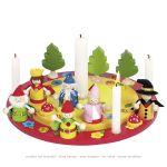 Couronne d'anniversaire avec set de figurines