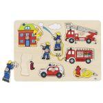 Pompiers, puzzle à encastrements