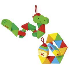 Puzzle de poche Crocodile et Clown