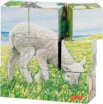 Puzzle de cubes, animaux de la ferme