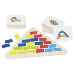 Puzzle triangle segmenté, 25 x 16 x 0,8 cm