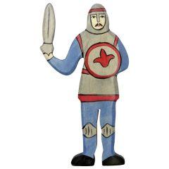 Chevalier, combattant, bleu