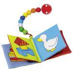 Livre d'image (couineur et grelot) avec chaîne pour bébé