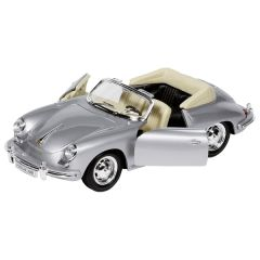 Porsche 356B Cabriolet, en métal, 1:24, L= 18 cm