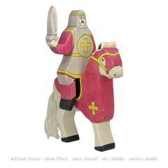 Chevalier rouge, à cheval (sans cheval)