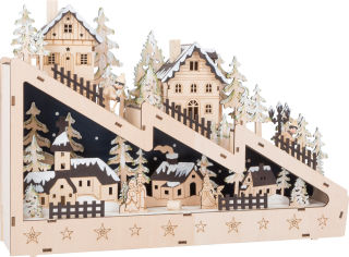 Lampe hivernale Descente de Ski