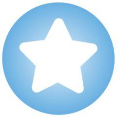 Demi-perle à clipser bleue avec étoile blanc