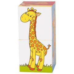 Puzzle de cubes, animaux