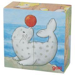 Puzzle de cubes, bébés animaux II