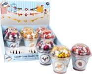 """Présentoir lot deles en bois Cupcake """" Candy"""""""