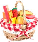 Panier pique-nique avec fruits à découlot de