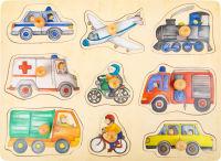 Puzzle pièces à poser Véhicules de ville