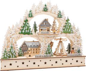 Arc lumineux Village d'hiver