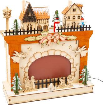 Lampe à cheminée Monde de Noël