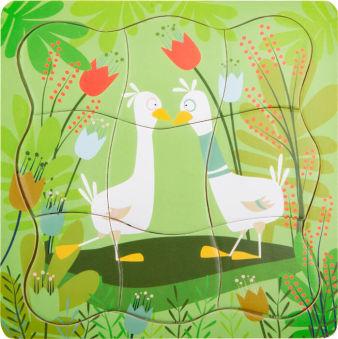Puzzle à étages Paire de canards