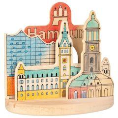 Images en bois à colorier, avec socle, Hambourg