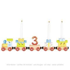Train anniversaire, loco et 4 wagons avec attaches