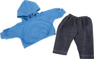 Habits de poupée, pullover à capuche et pantalon