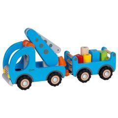 Camion-grue avec remorque